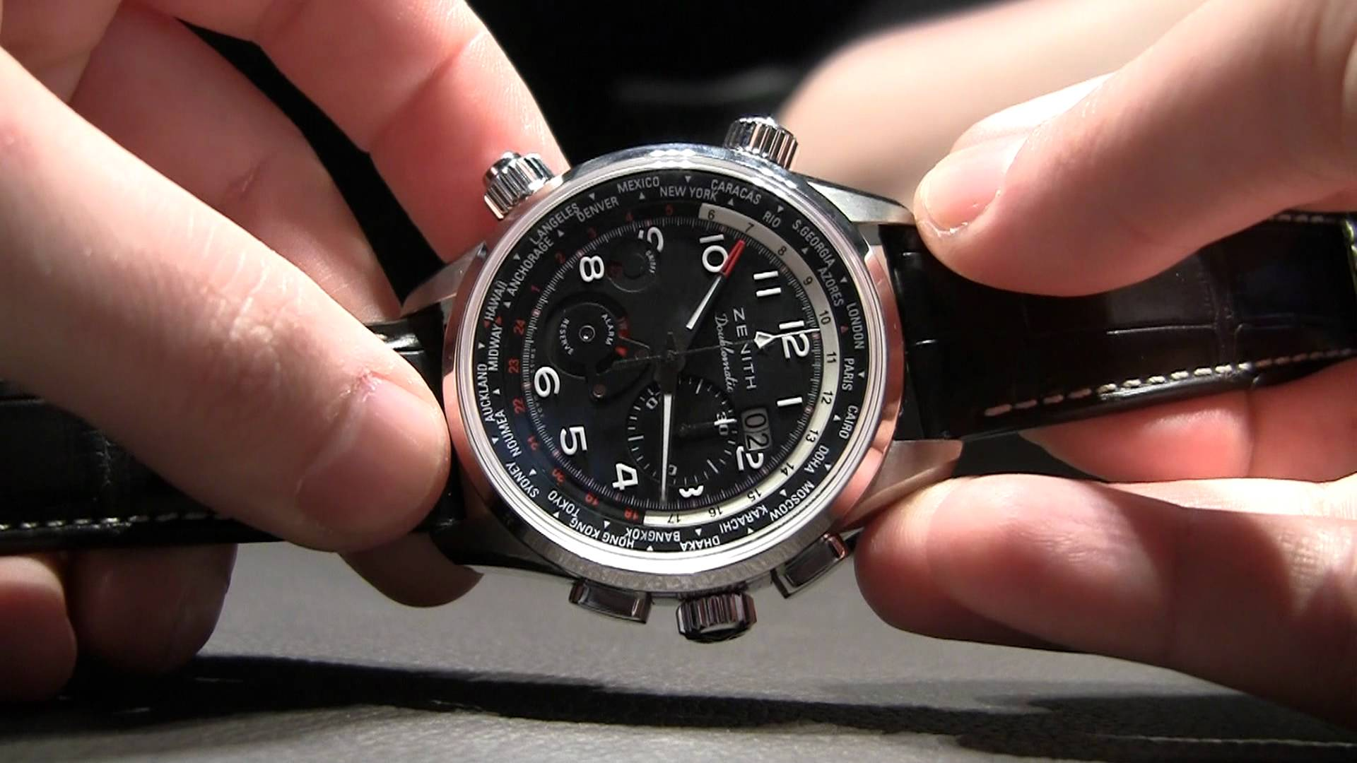 Zenith Pilot Doublematic Watch Hands On   YouTube