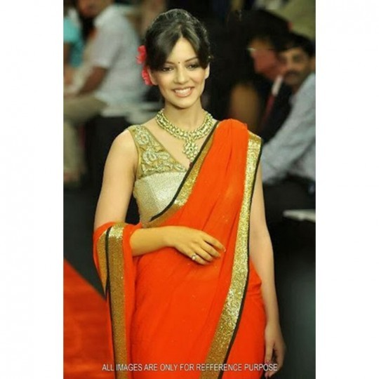 Tv actress georgette bollywood replica saree online shopping India